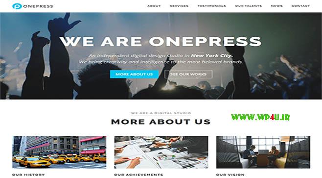 قالب OnePress وردپرس