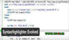 افزونه SyntaxHighlighter Evolved نمایش کدها در وردپرس
