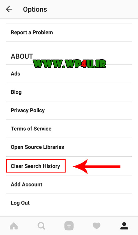 آموزش پاک کردن تاریخچه جستجوهای اینستاگرام