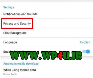آموزش مخفی کردن آنلاین بودن در تلگرام
