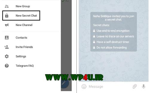 ایجاد کردن چت مخفی در تلگرام