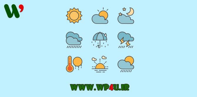 پیش بینی وضع هوا در وردپرس